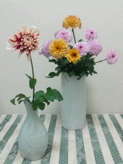 さっそく花瓶☆